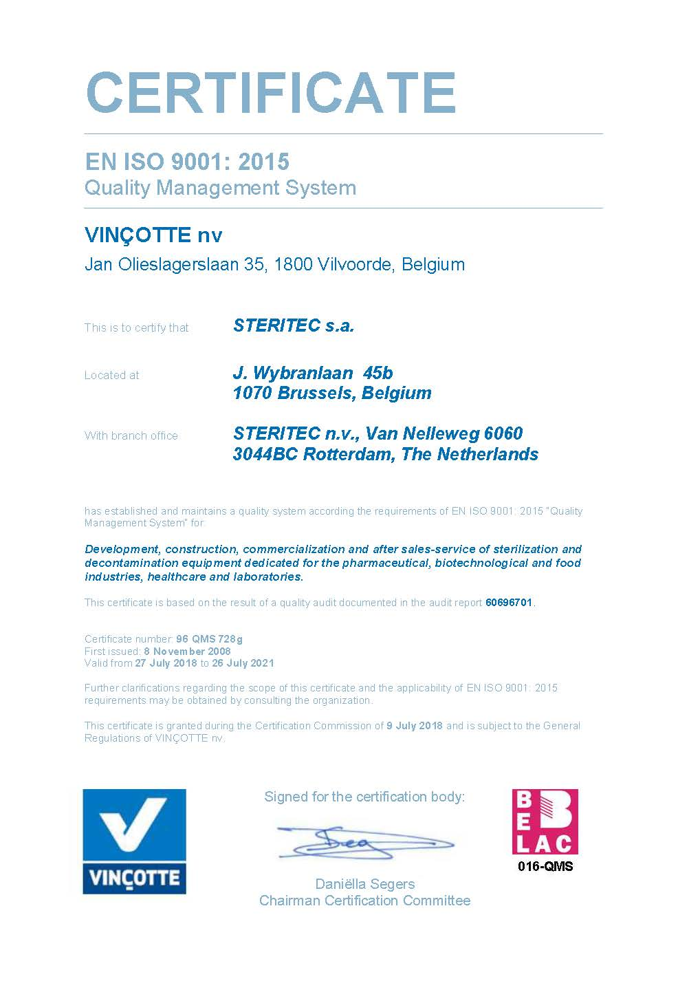 STERITEC_ISO CERTIFICATE BE&NL 27-07-2018